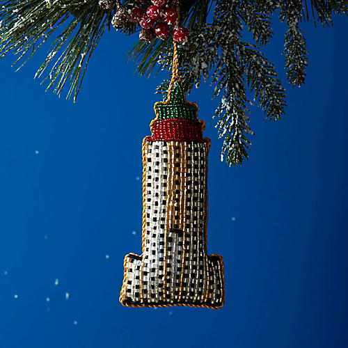 Empire State Building Ornament, Gold/Multi