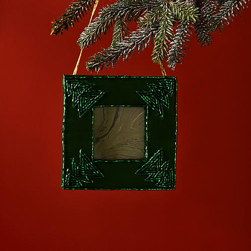 Christmas Tree Frame Ornament, Green