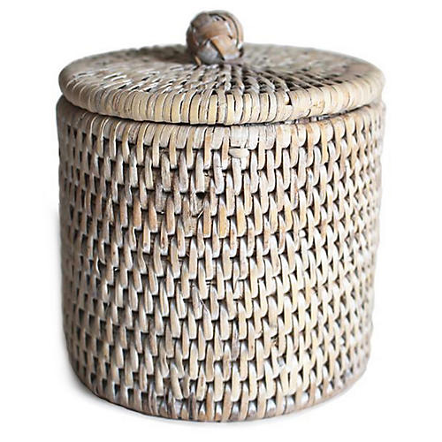 Knot Canister, Whitewash