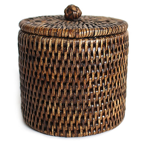 Knot Canister, Brown