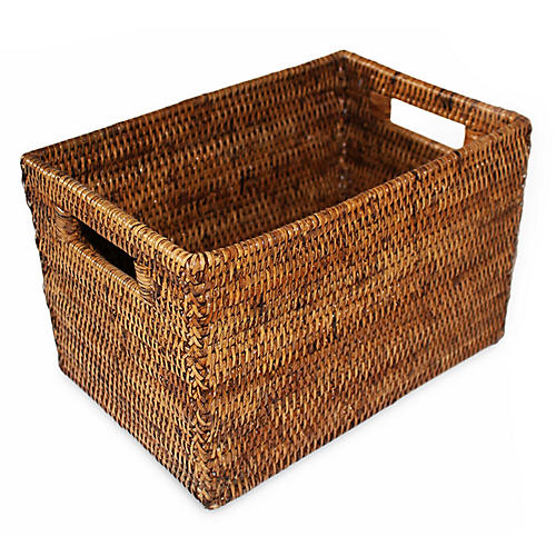 """12"""" Lovett Storage Basket, Brown"""
