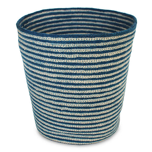 "11"" Merrion Basket, Indigo/White"