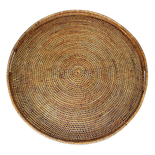 Lough Round Tray, Brown