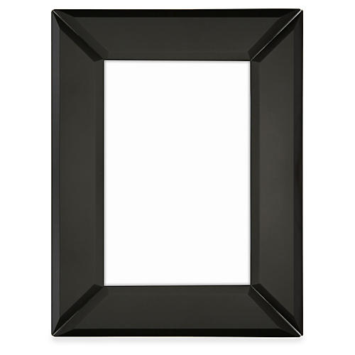 Canal Mirrored Frame, Black