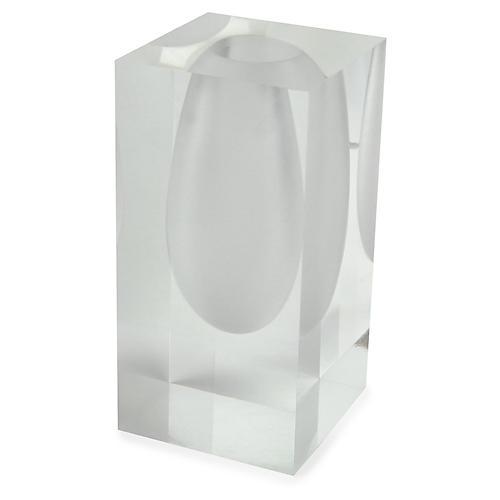 """6"""" Mesa Drop Vase, Clear"""