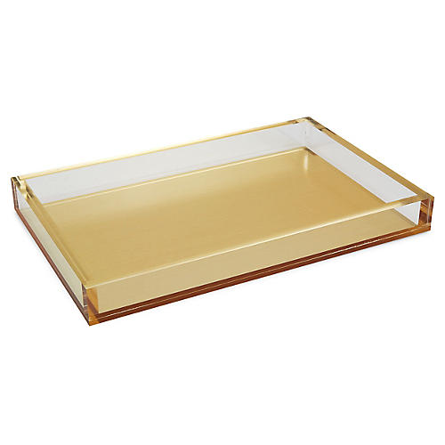"13"" Silva Decorative Tray, Gold"
