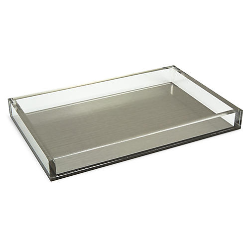 "13"" Silva Decorative Tray, Silver"