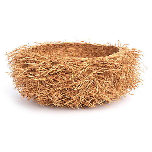 Vetiver Decorative Basket, Natural