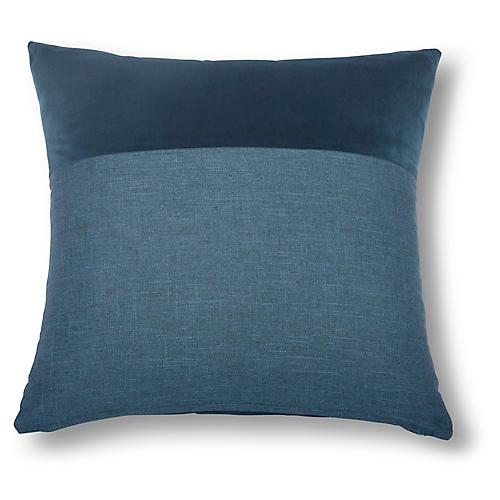 Diplos 22x22 Pillow, Indigo/Navy