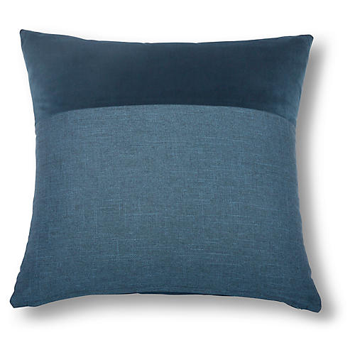 Diplos 22x22 Pillow, Indigo/Navy
