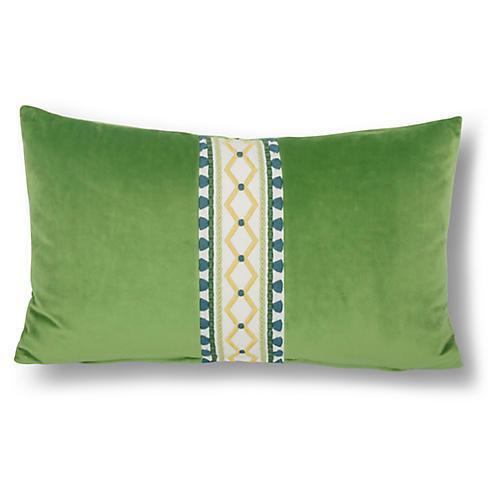 Paloma 12x20 Lumbar Pillow, Lime Velvet