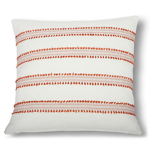 Odell 22x22 Pillow, Orange