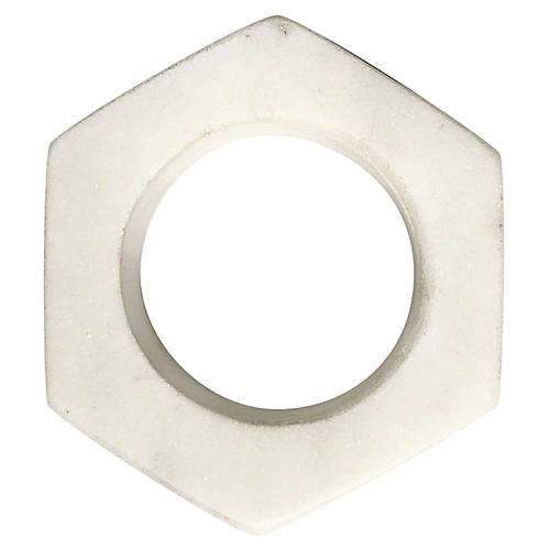 Marble Napkin Ring, White