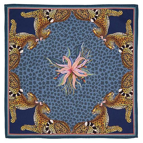 S/2 Leopard Lily Frost Napkins, Blue/Multi