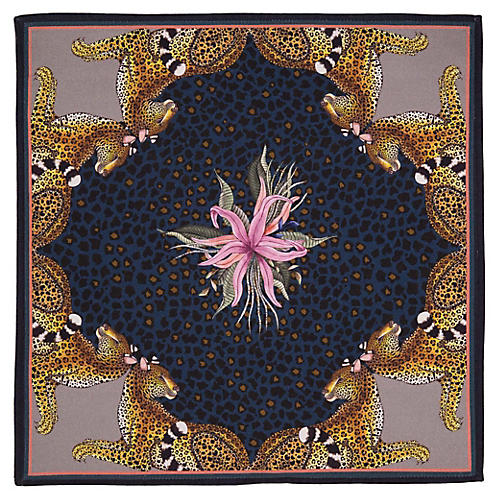 S/2 Leopard Lily Starry Night Napkins, Purple