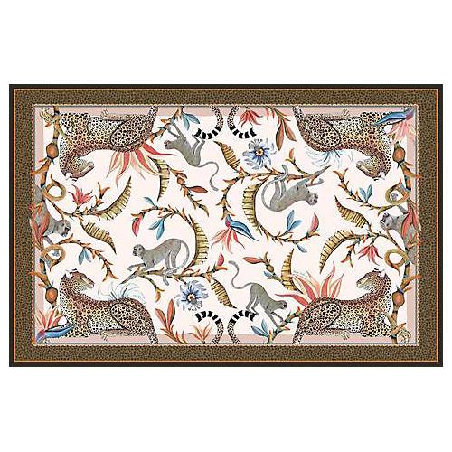 Monkey Paradise Sandstone Tablecloth, Brown/Multi