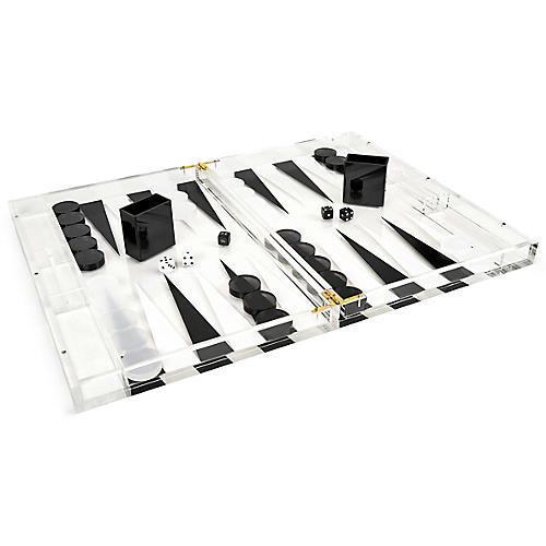 Barona Backgammon Set, Black/White