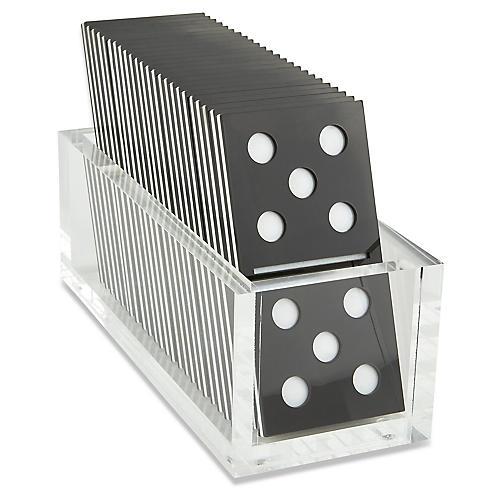 Culver Domino Set, Black/White