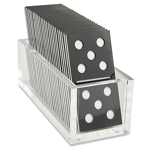 Culver Domino Set, Black/White