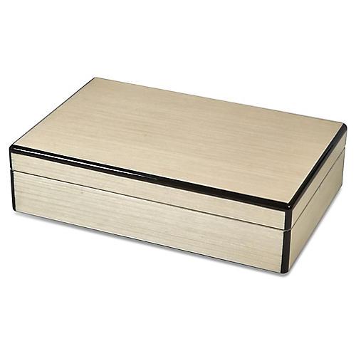 Lucia Jewelry Box, Natural/Black