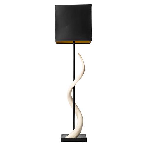 Kudu Horn Table Lamp, Black