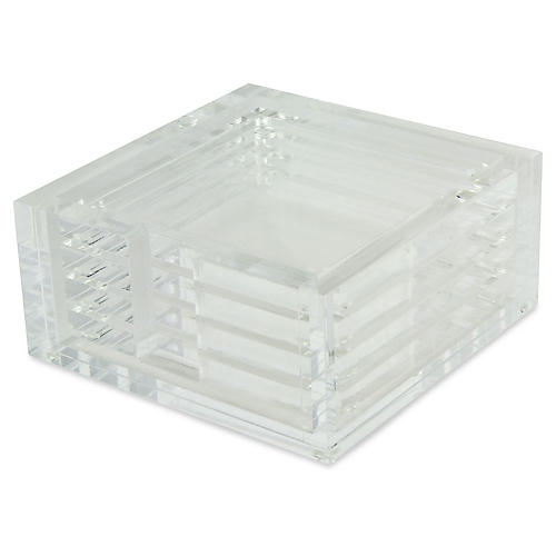 S/4 Prado Coasters, Clear