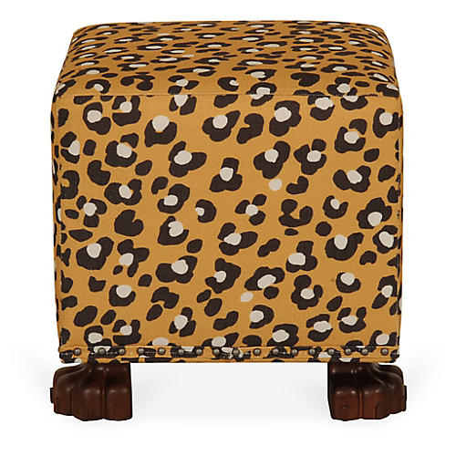 Cottage Ottoman, Leopard Spots