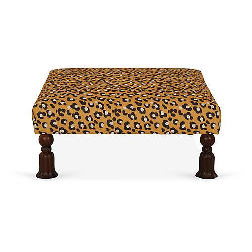 Burton Cocktail Ottoman, Leopard Spots