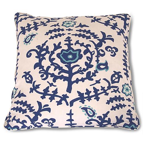 Spoleto 22x22 Pillow, Blue/White
