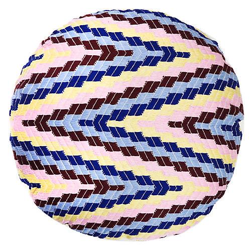 Almolonga 16x16 Circle Pillow, Pink/Multi