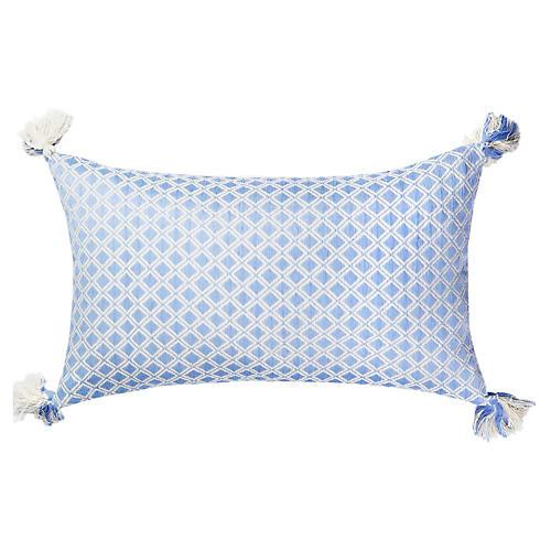 Comalapa 12x20 Lumbar Pillow, Baby Blue