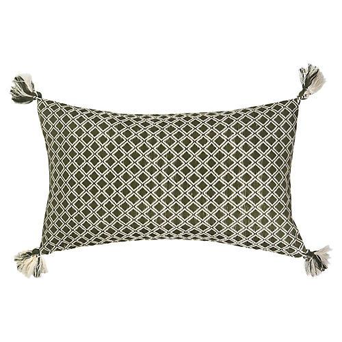 Comalapa 12x20 Lumbar Pillow, Olive