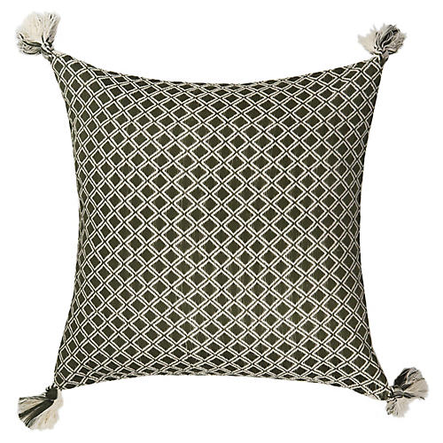 Comalapa 18x18 Pillow, Olive