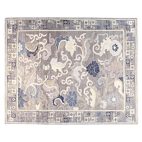 8'x10' Hampton Sari Rug, Gray