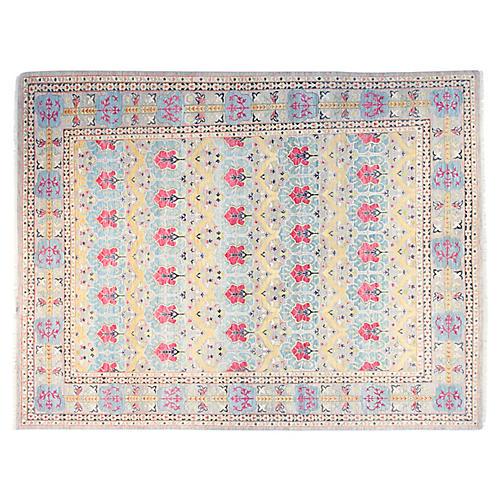 9'x12' Chrysa Sari Rug, Light Blue