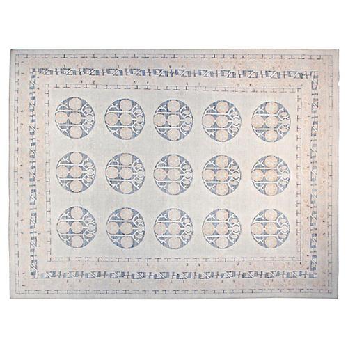 9'x12' Khotan Rug, Ivory