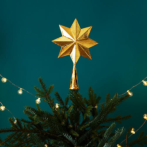 8-Point Tree Topper, Gold