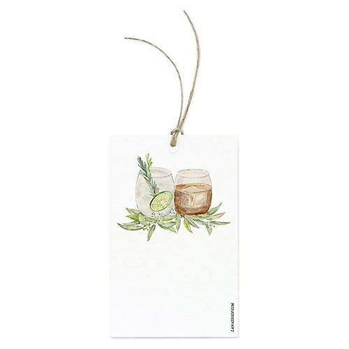S/12 Cocktail Gift Tags