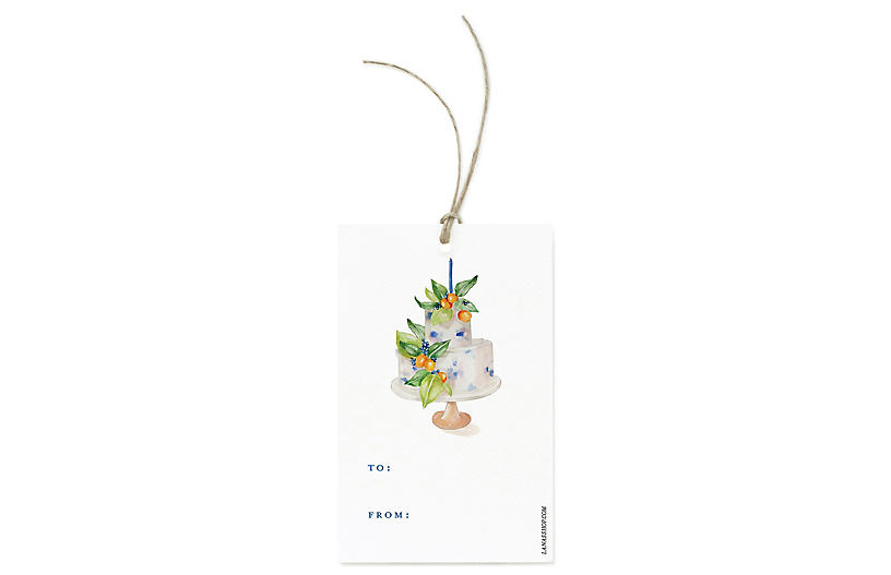S/12 Botanic Cake Gift Tags