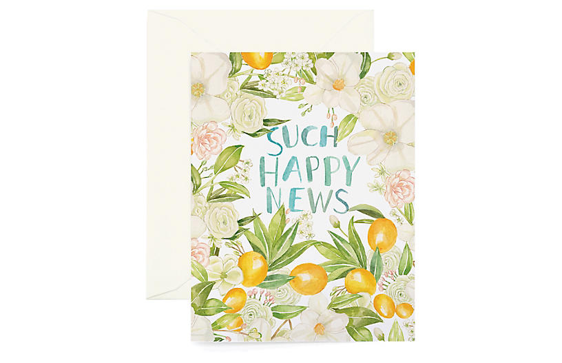 S/8 Happy News Greeting Cards