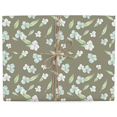 S/3 Pixie Florals Gift Wrap