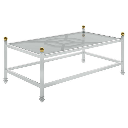Barclay Outdoor Coffee Table, White
