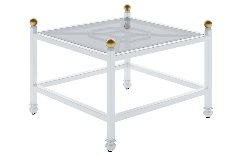Barclay Outdoor Side Table, White