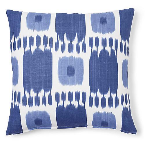 Kandira 20x20 Pillow, Indigo Linen