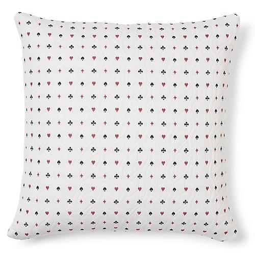 Le Joueur 20x20 Pillow, Rouge Et Noir