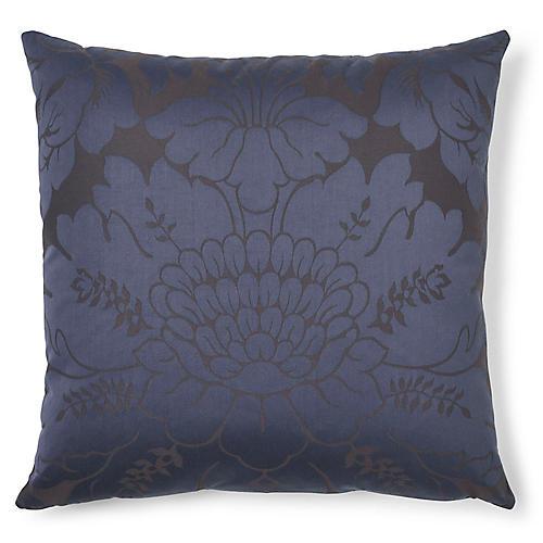 Maggiore Damasco 20x20 Pillow, Midnight