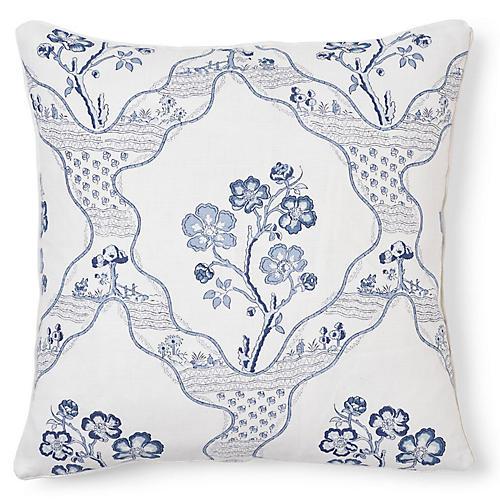 Marella 20x20 Pillow, Delft Linen