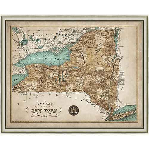 1846 Map of New York State