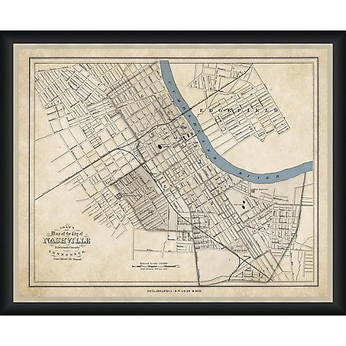 Historic Map of Nashville , Black