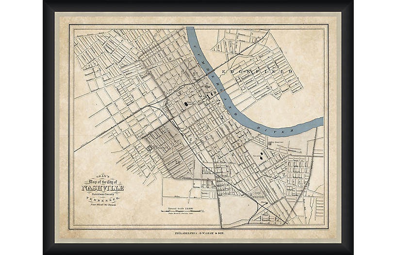 Historic Map of Nashville